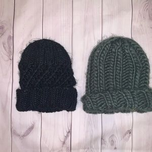 ♡ Set of 2 Cable Knit Beanies ♡